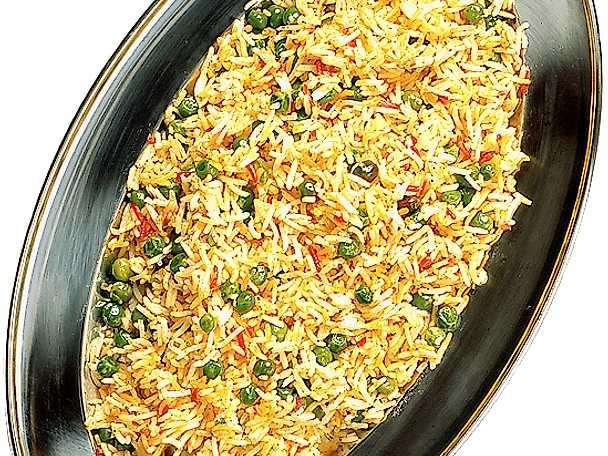 Stekt ris med ärter