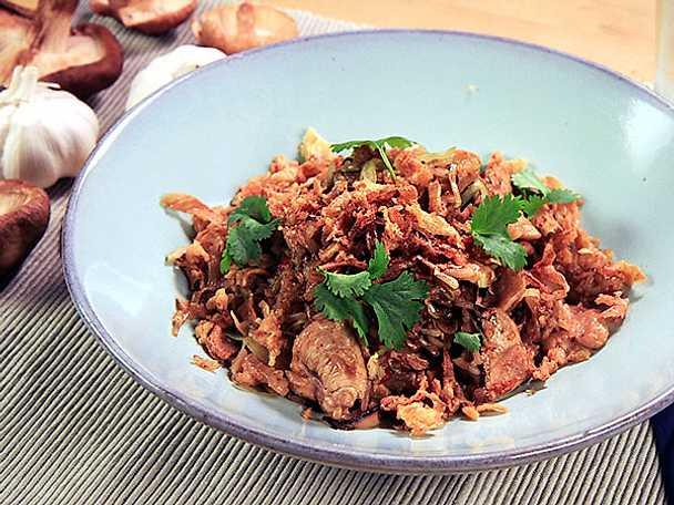 Stekt ris med kyckling och shiitake