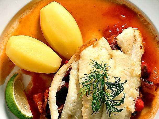 Stekta bergtungafiléer med senapsratatouille