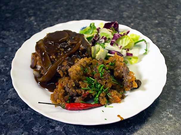 Strimlad Beef Steak, med sweet chili sauce