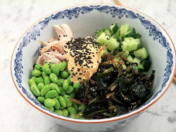 Supersnabb japansk kycklingbowl - se & gör