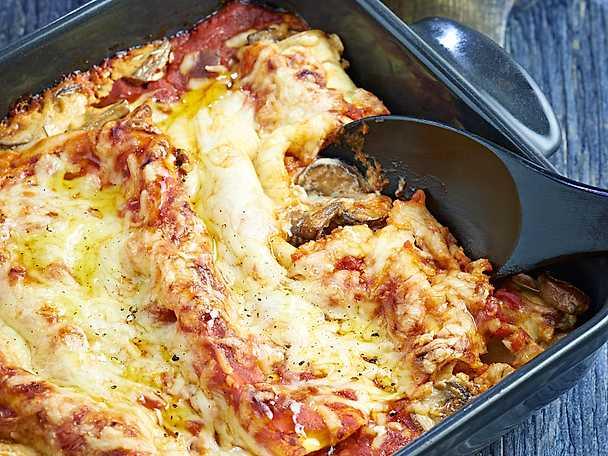 Svampfylld cannelloni