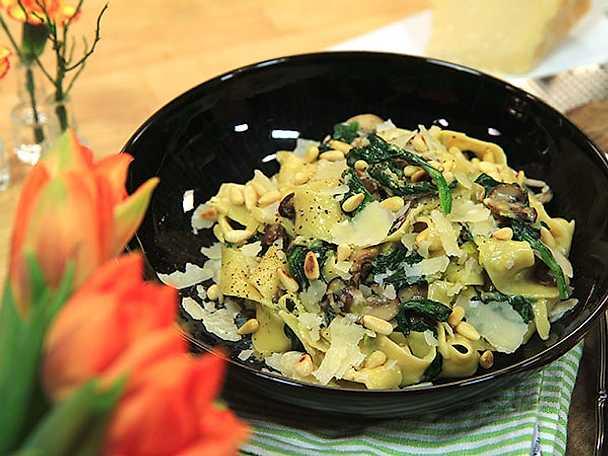 Svamppasta med tryffel och parmesan