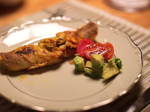 Svärmors vegetariska enchiladas