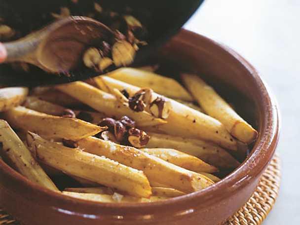 Svartrötter med rostade hasselnötter