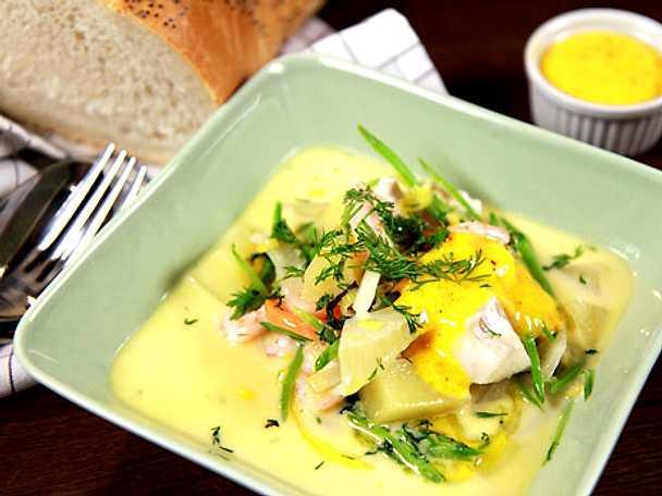 Svensk fisksoppa med fransk rouille