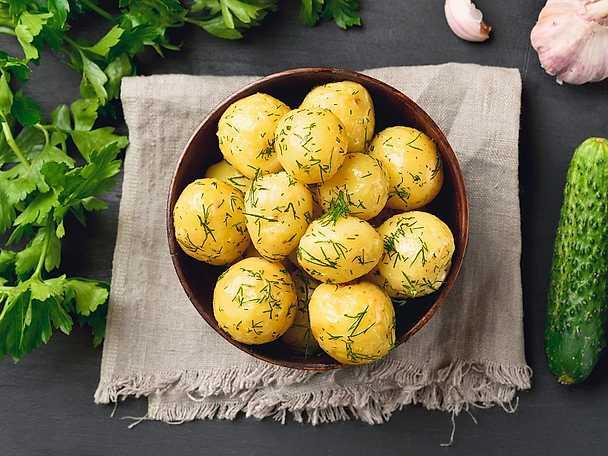 pressad potatis fast eller mjölig