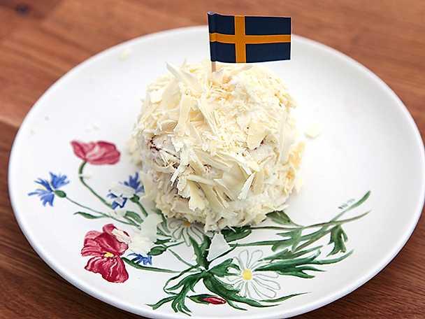 Sverigebakelse med kolakräm