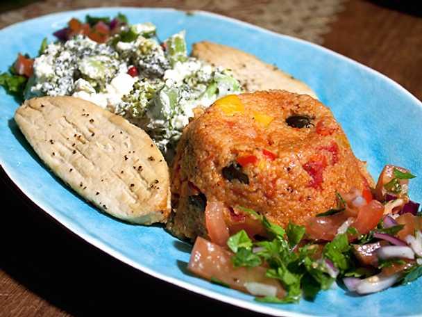Tabouleh med omelett