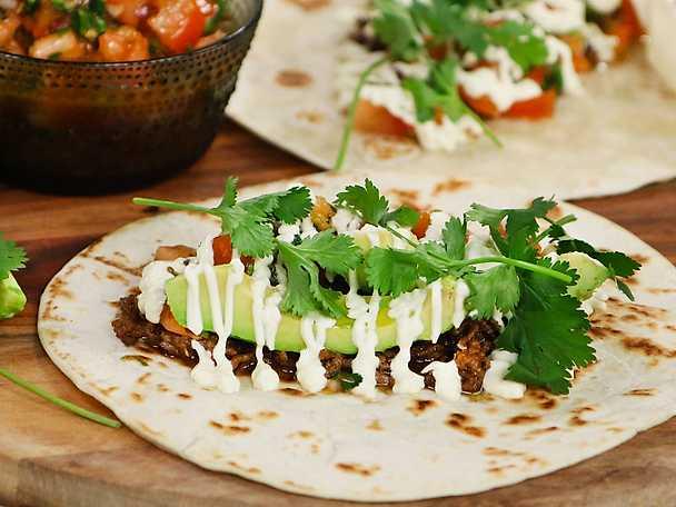 Taco med hemgjord tacokrydda och tomatsalsa