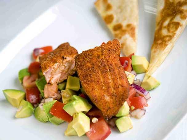 Tacolax med avokadosalsa