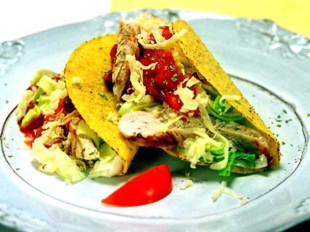 Tacos med grillad kyckling