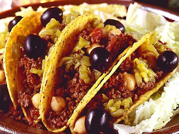 Tacos med kryddig färs