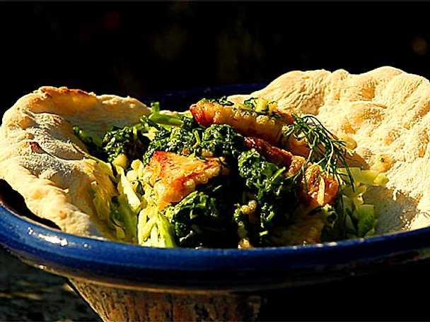 Tacos med tempurafriterad flundra