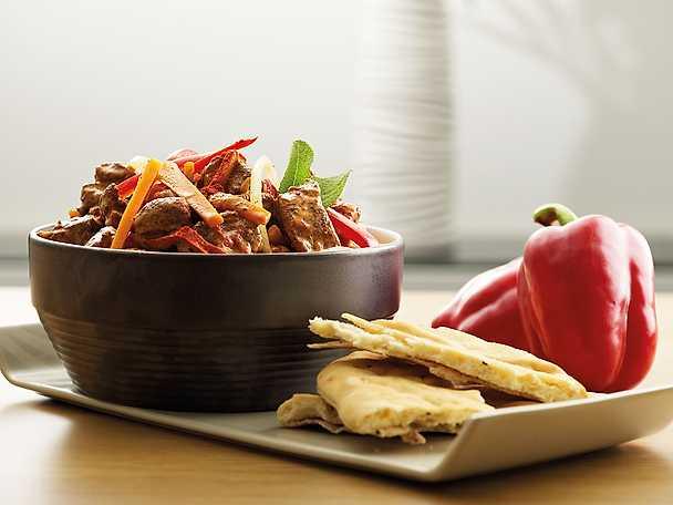 Tandoorigryta på kalkon med ris och naanbröd