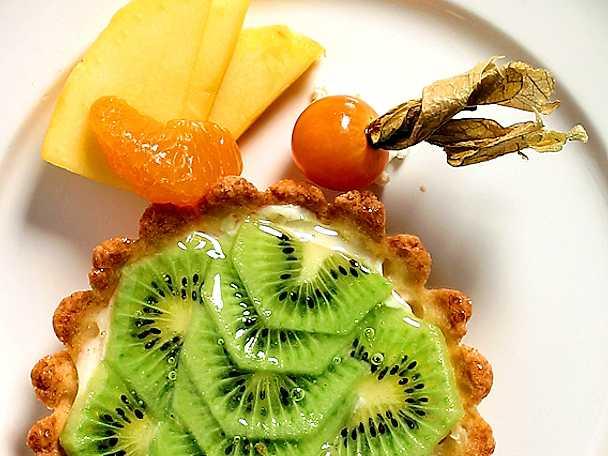 Tarteletter med kiwifrukt