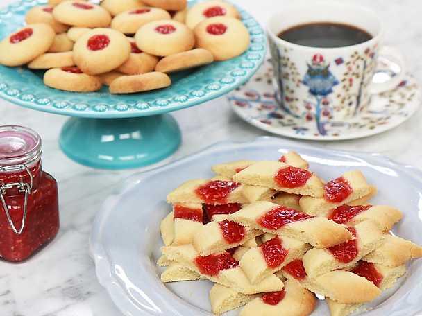 Teas perfekta hallongrottor och hallonsnittar