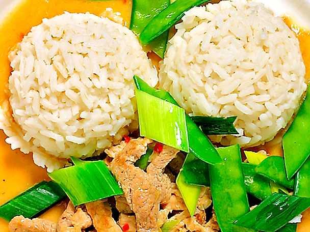 Thaicurry med fläskkött och kokosmjölk