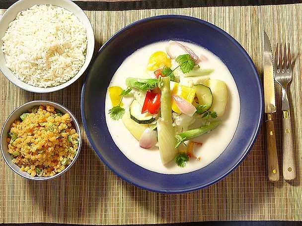 Thaicurry med grönsaker