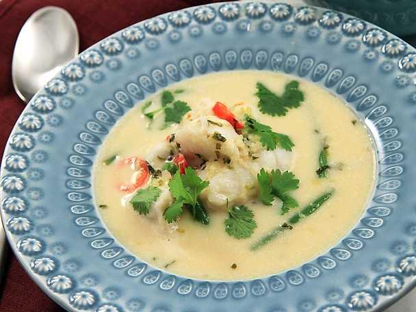 Thaigryta med torsk och citrongräs