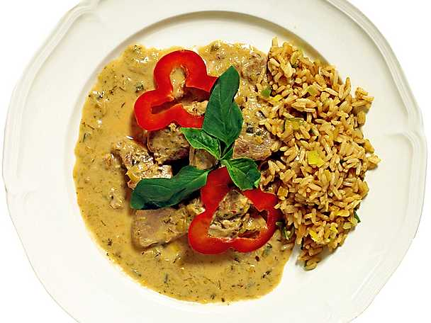 Thaikryddad fläskfilé med stekt ris