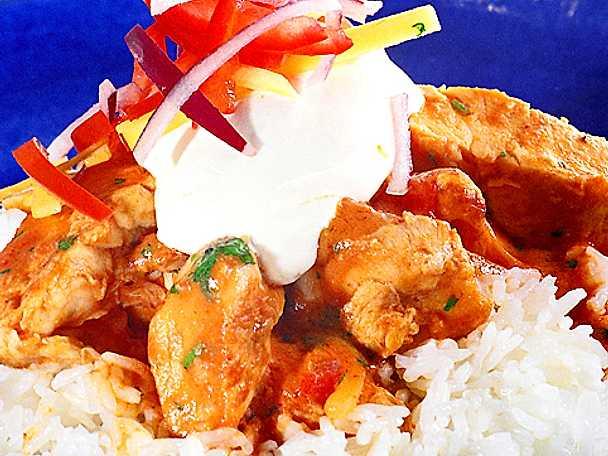 Gula Koket : Thaikryddad gryta med kycklingfilo  Recept fron Koketse