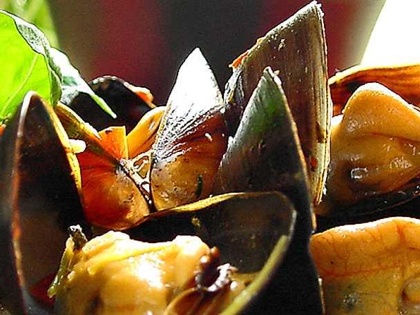 Thaikryddade blåmusslor