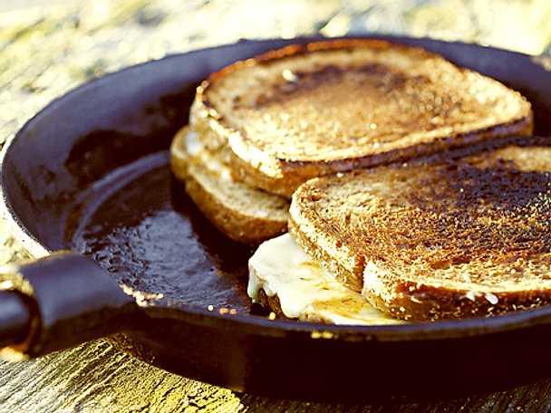 Toast i stekpanna