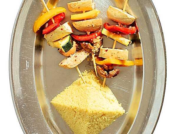 Tofuspett med couscous