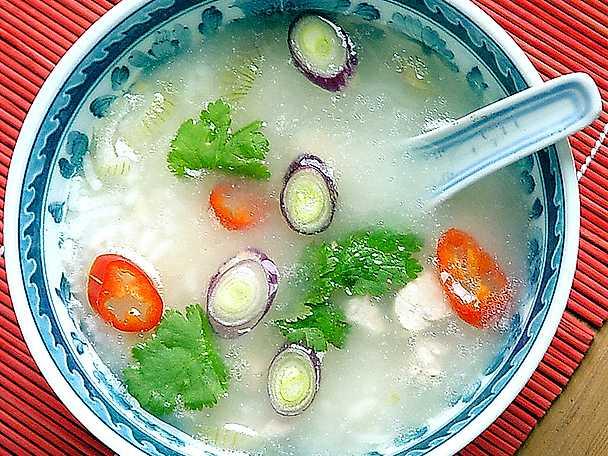 Tom Kha Gai - kycklingsoppa med ris