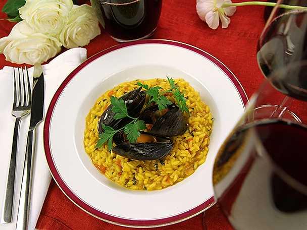Tomat- och musselrisotto