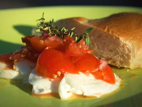 Tomat och vaniljmozzarella