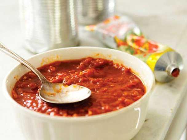 Tomatsås till pizza, grundrecept