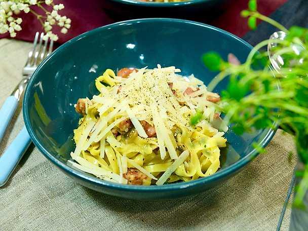 "Tommys ""dagen efter""-pasta med salsiccia"