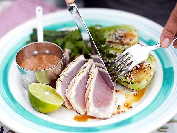 Tonfisk med grillad pak choy