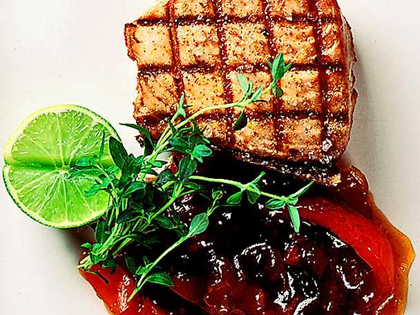Tonfisk med röd chutney