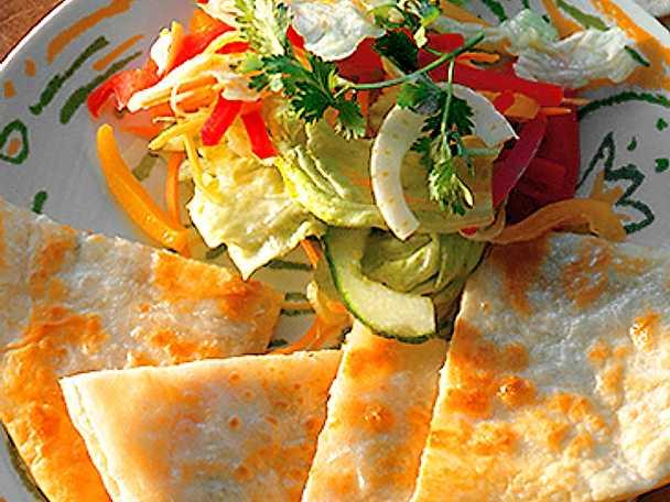 Tortillas med grönsaker