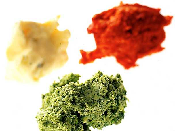 Tre kryddsmör