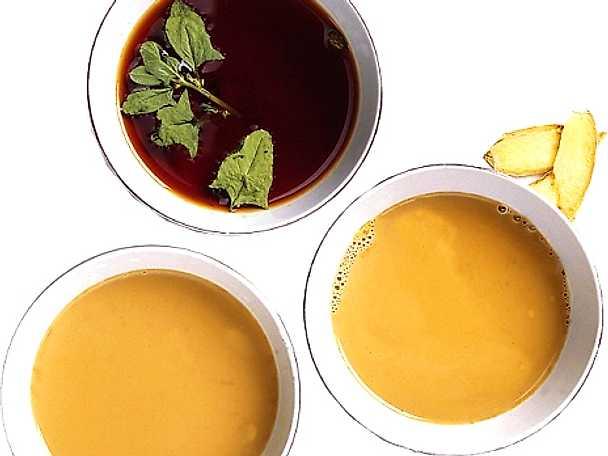 Tre sorters indiskt te