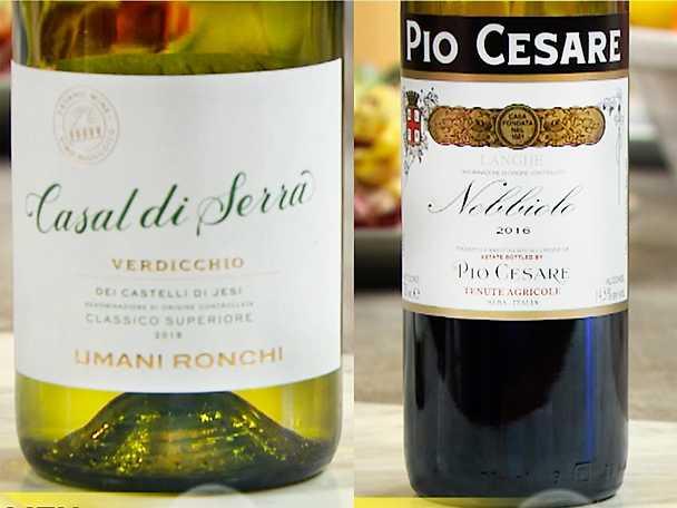 Två goda viner till pastan