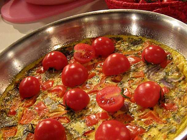 Ugnsbakad omelett med julrester