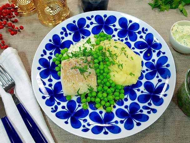 ugnsbakad torsk äggsås