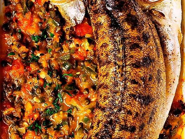 Ugnsstekt fisk med kaprissås