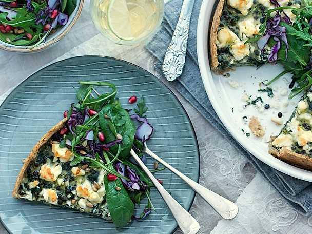 Urtekram Zucchini och spenatpaj med fetaost
