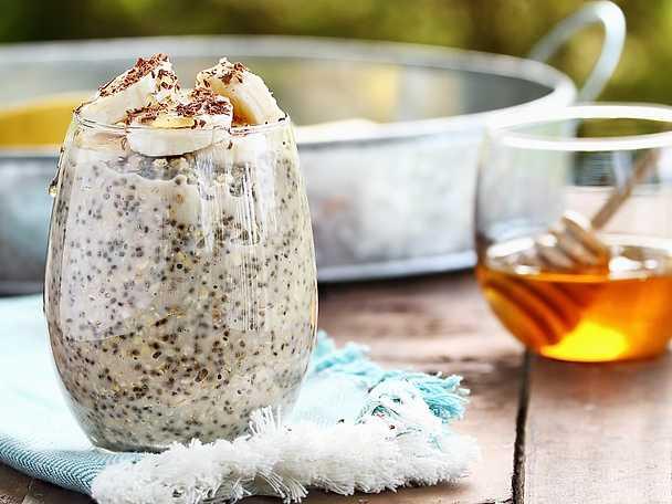 Valio Overnight oats med chiafrön