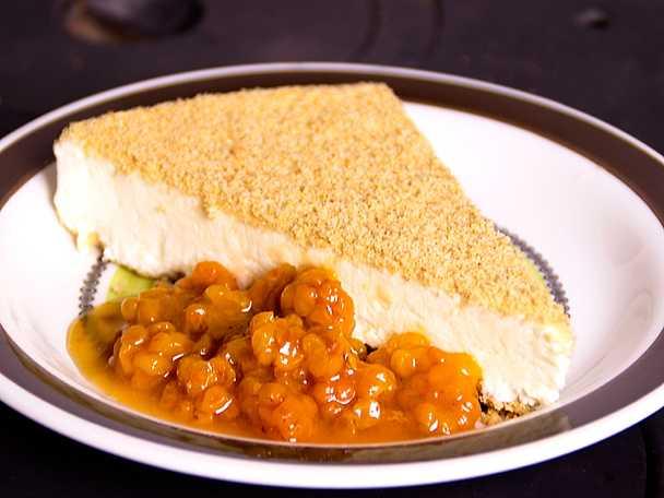 Vaniljcheesecake med hjortron