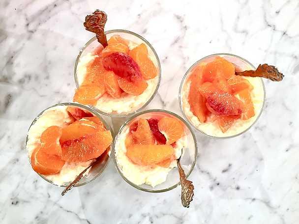 Vaniljris med citrussallad