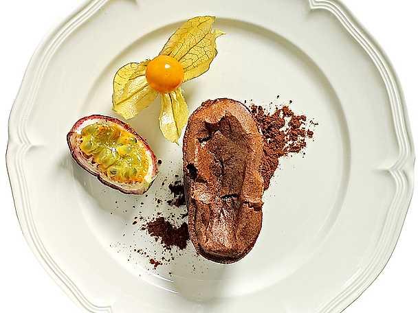 Varm chokladpudding med polenta