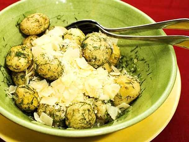 Varm potatissallad