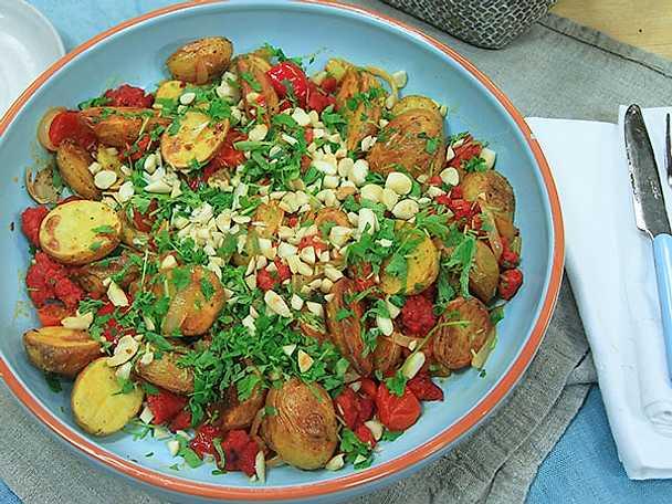 Varm potatissallad med chorizo